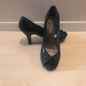 Xhilaration Black Peep toe Heels
